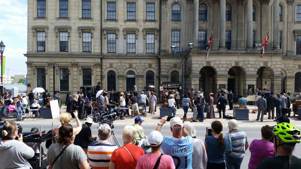 Filming of Murdoch Mysteries in Cobourg 2015