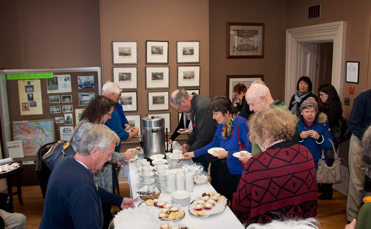Dressler Day Nov 2017 - the butter tarts and coffee