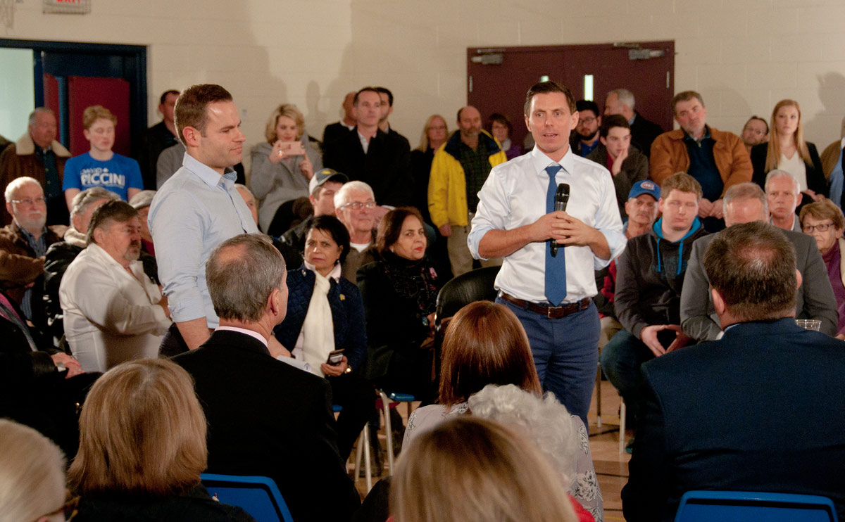 Candidate David Piccini and PC leader Patrick Brown