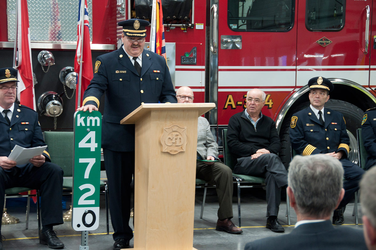 Cobourg's Deputy Fire Chief Gene Thompson