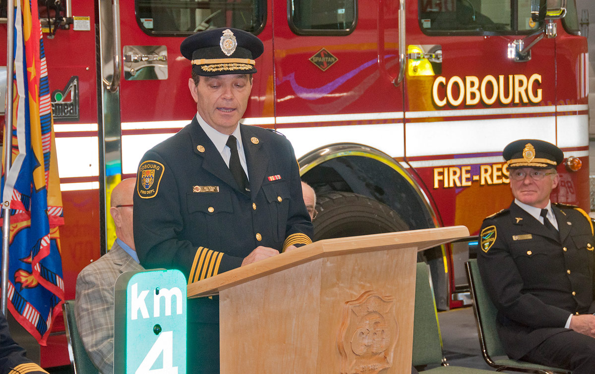 Cobourg Fire Chief Mike Vilneff
