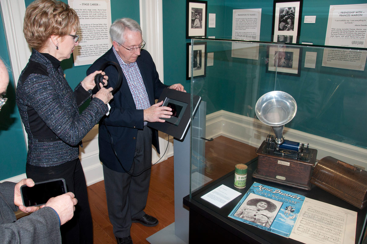 Rick Miller demonstrating a Museum feature