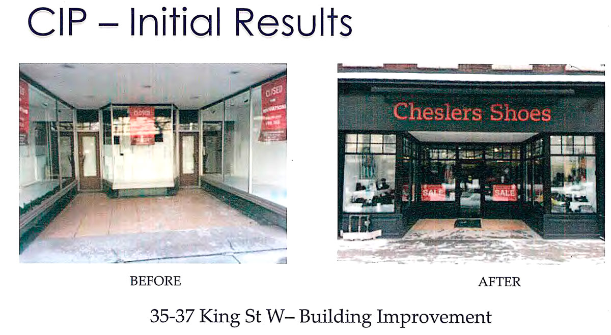 Cheslers Shoes Before and After Improvements helped by CIP