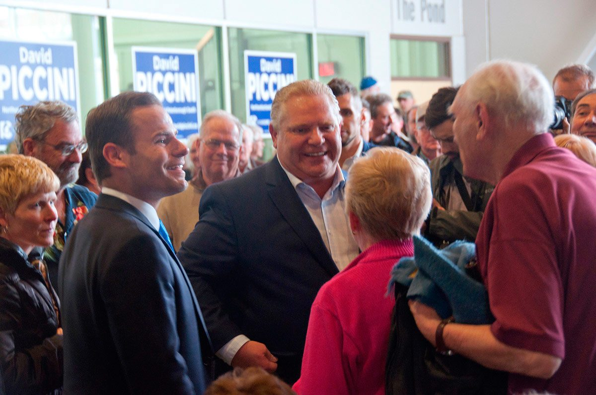 Doug Ford - working the crowd
