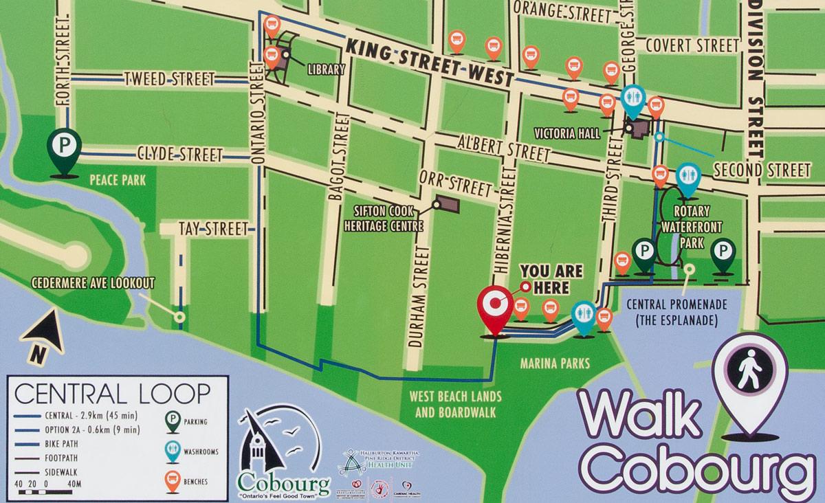 West Beach Trail map