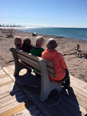 West Beach bench - photo by Ken Wren