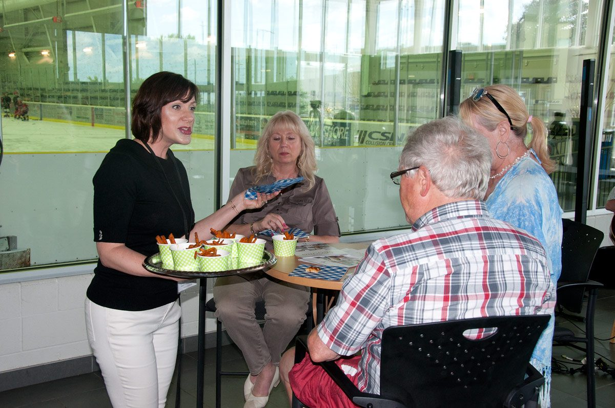 CCC Canteen food samples being served