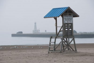 One of Cobourg's current Lifeguard stations