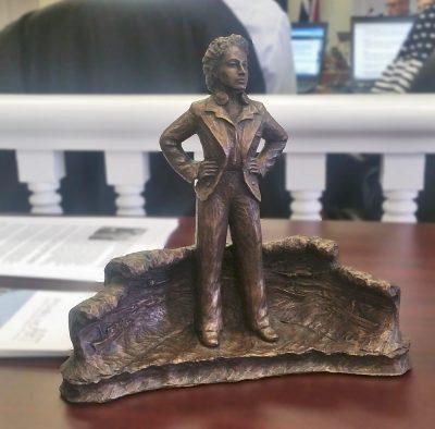 Fern Blodgett Sunde - model of statue