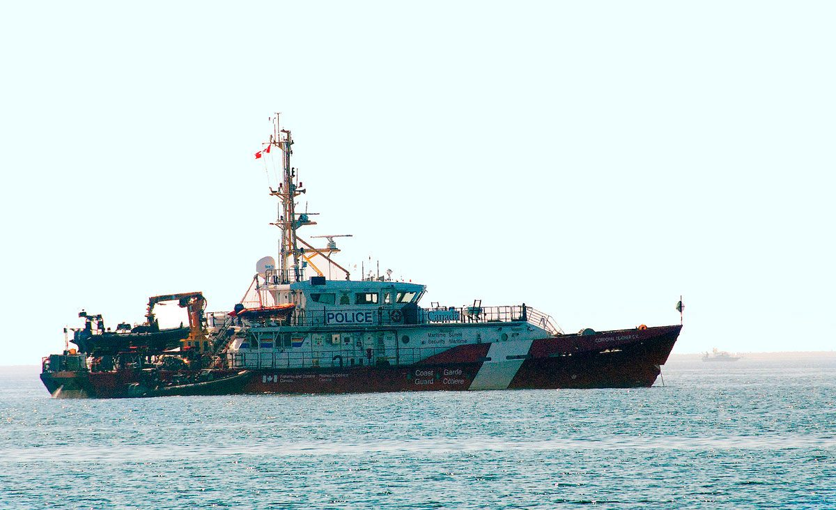 Canadian Coastguard - Maritime Security Ship - moored off Cobourg