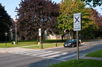 Pedestrian Crossing on King at Victoria Park