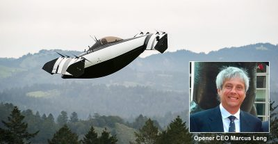 Marcus Leng and his Personal Flying Vehicle