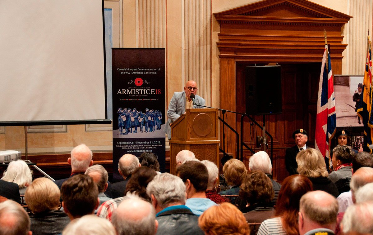 Artist Charles Pachter at Armistice opening ceremony