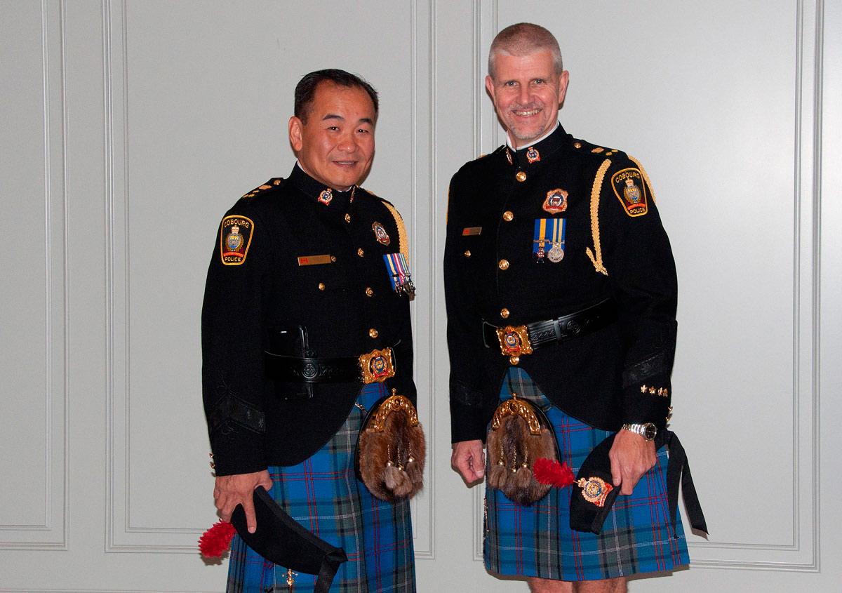 Police Chief Kai Liu and Deputy Chief Paul Vandegraaf