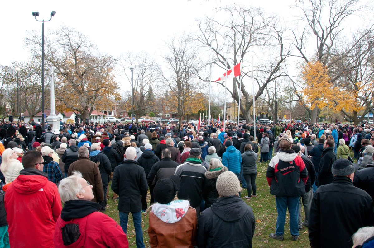 Some of the Remembrance Day crowd
