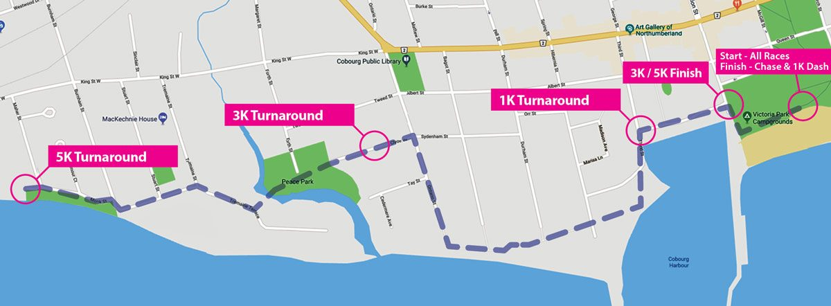 Reindeer Run Walk Route Map