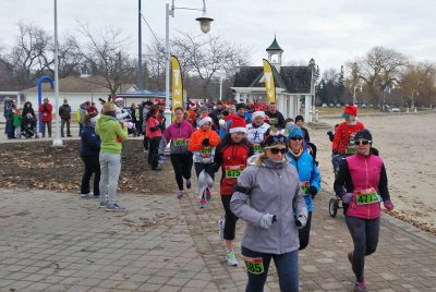 Reindeer Run - Start of 3km, 5km runs