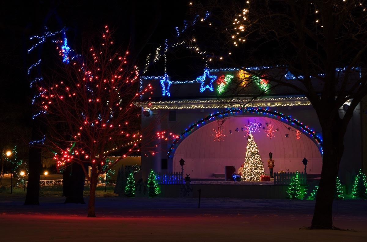 Christmas Lights in Victoria Park - Dec 2007
