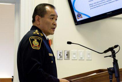 Cobourg Police Chief Kai Liu