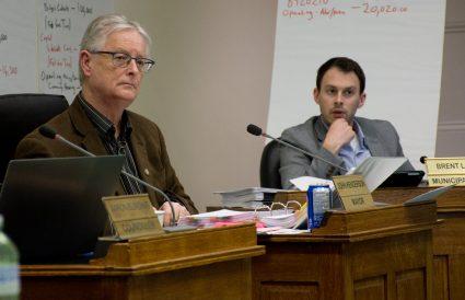 Mayor John Henderson; Town Clerk Brent Larmer