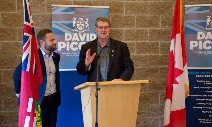 MPP David Piccini and Warden John Logel