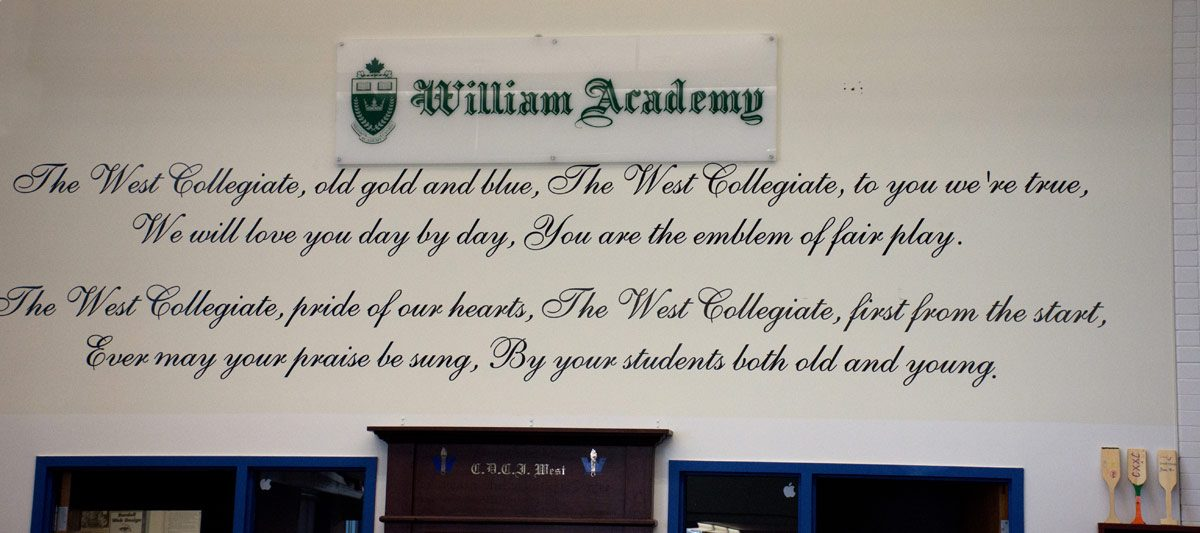 William Academy - in Library - part of CDCI West heritage