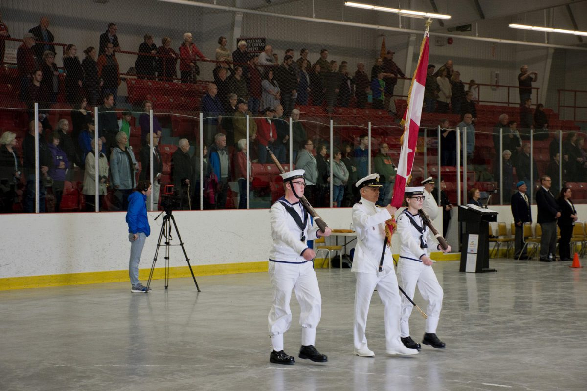 Leading the parade in Closing ceremony
