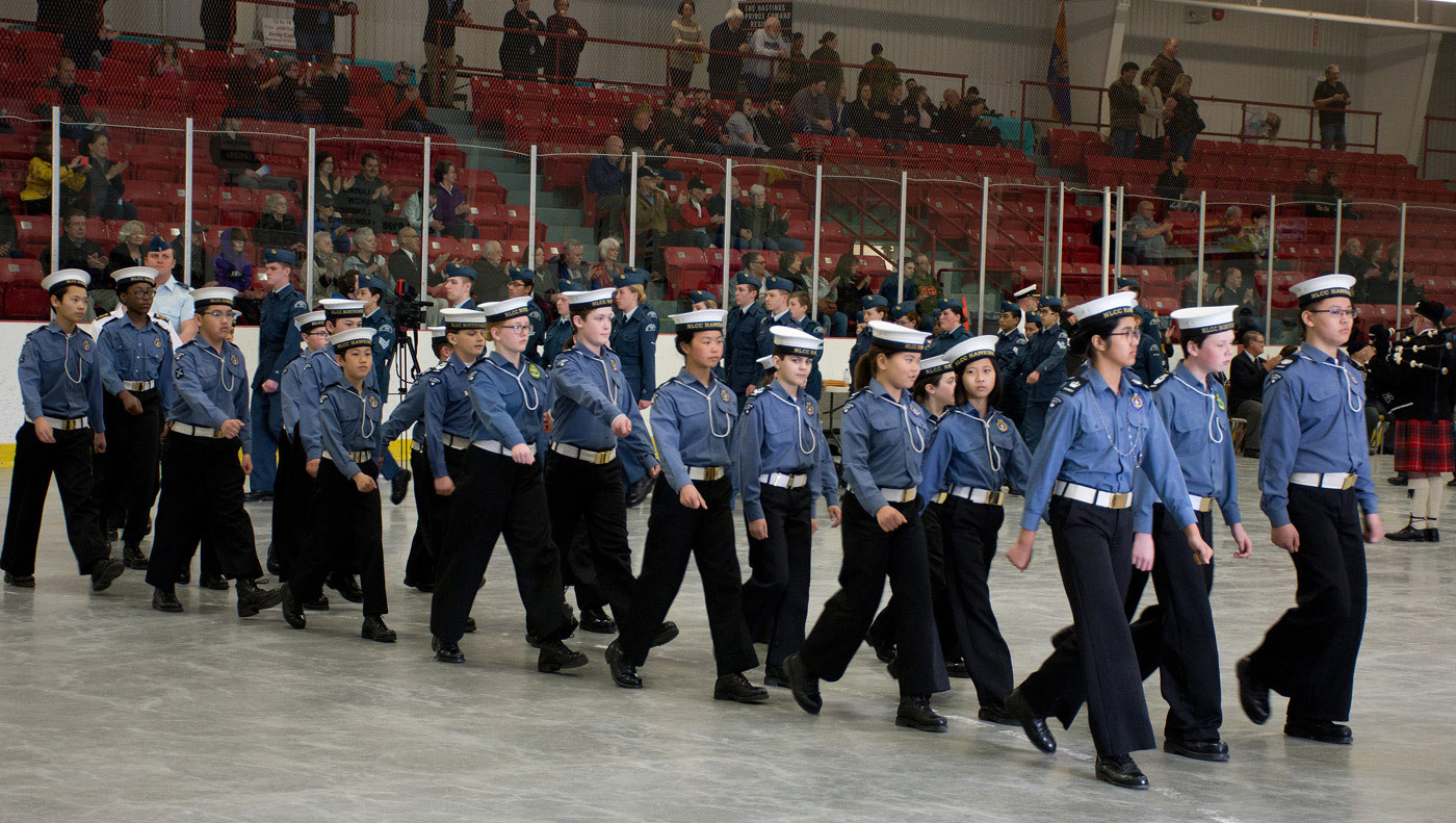 NLCC Navy League Cadets - in closing ceremony parade