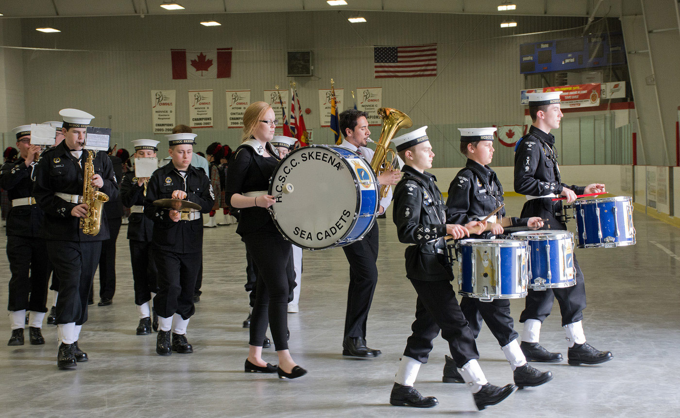 Skeena Sea Cadets Band - at end of the day