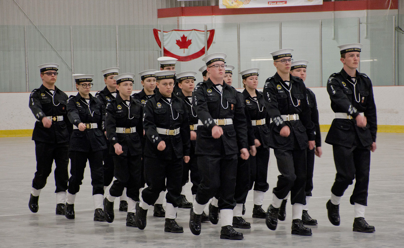 Skeena Sea Cadets - drill marching