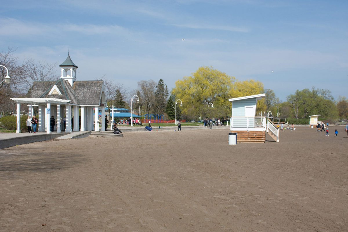 Lifeguard stations have been moved back