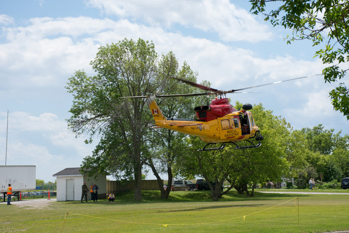 CFB Trenton Rescue Helicopter taking off