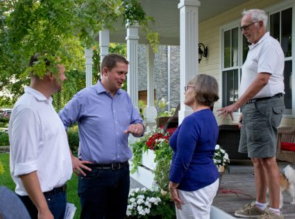 Andrew Scheer campaigning in Cobourg