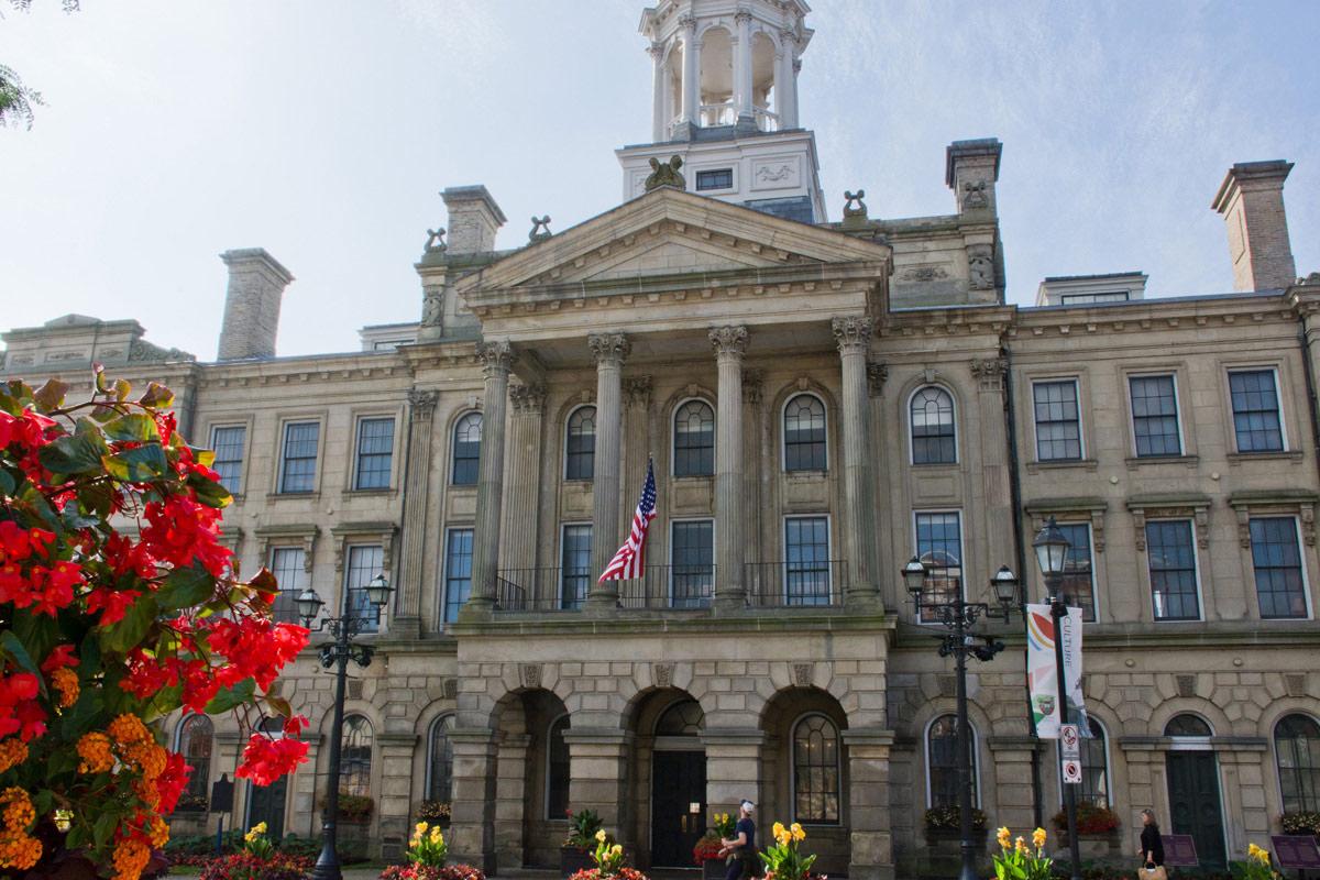 US flag on Cobourg Town Hall