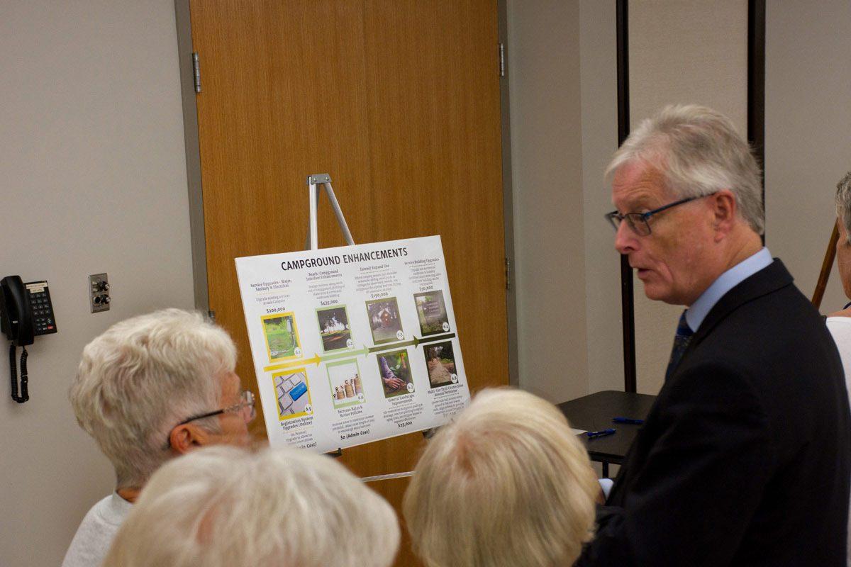 Mayor John Henderson explaining options