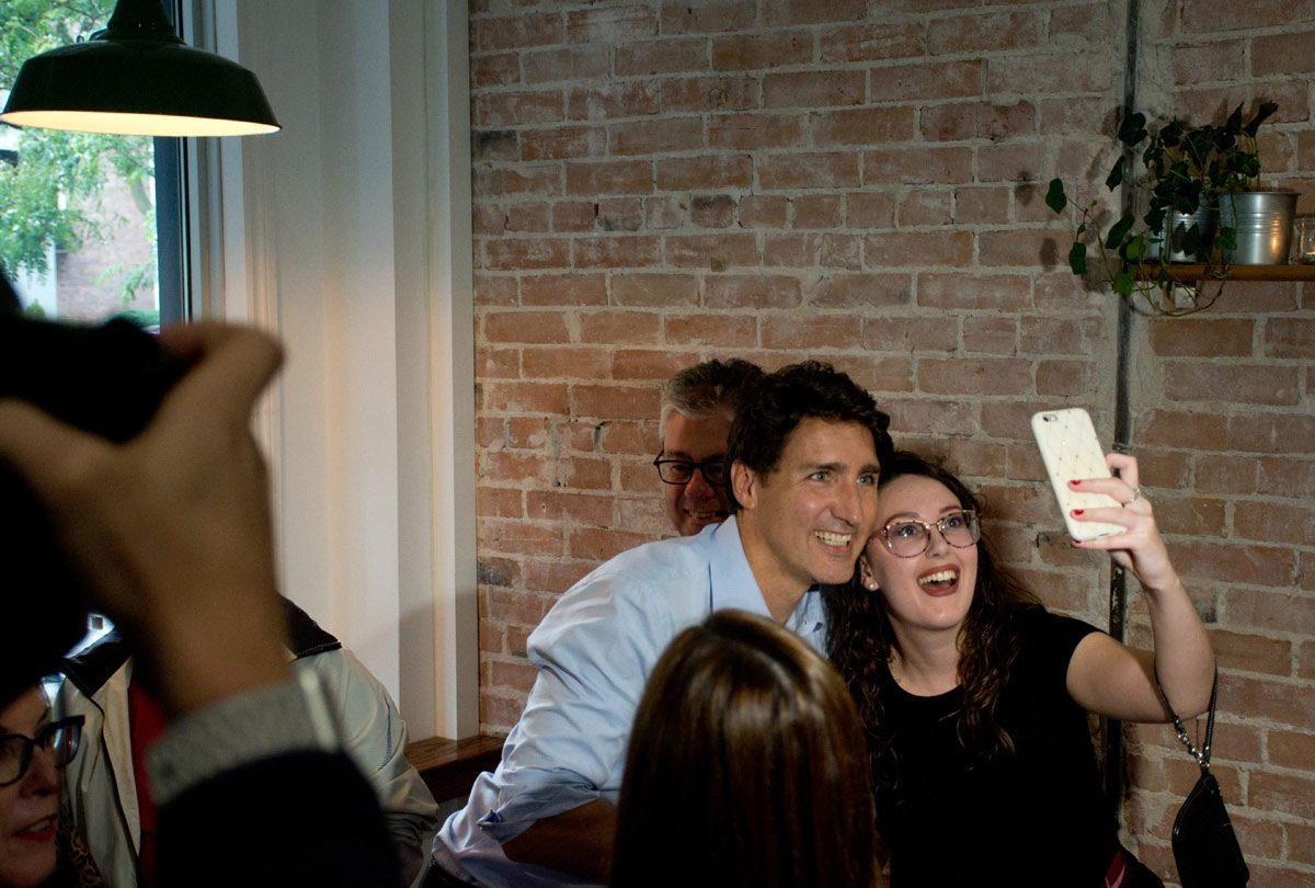 Trudeau and a Selfie