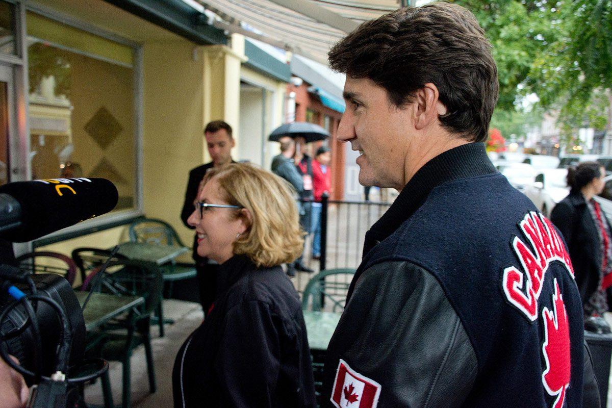 Kim Rudd and Justin Trudeau going into Buttermilk