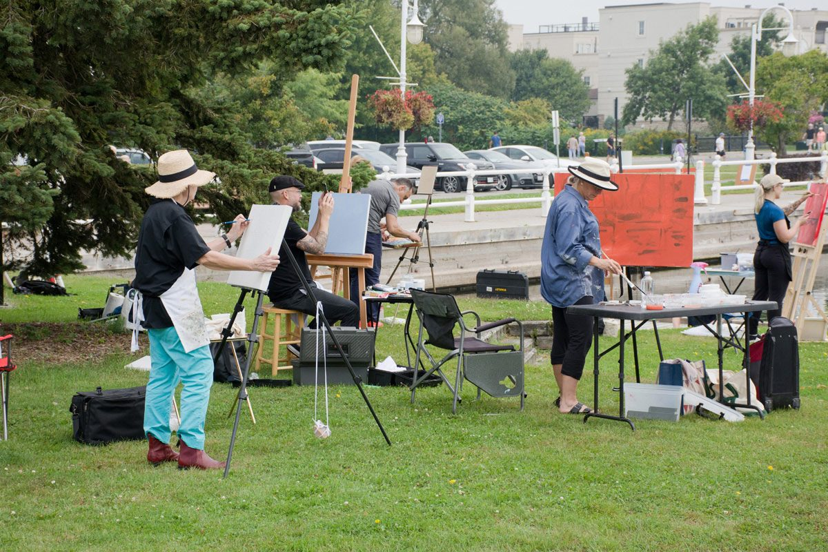 Waterfront painters