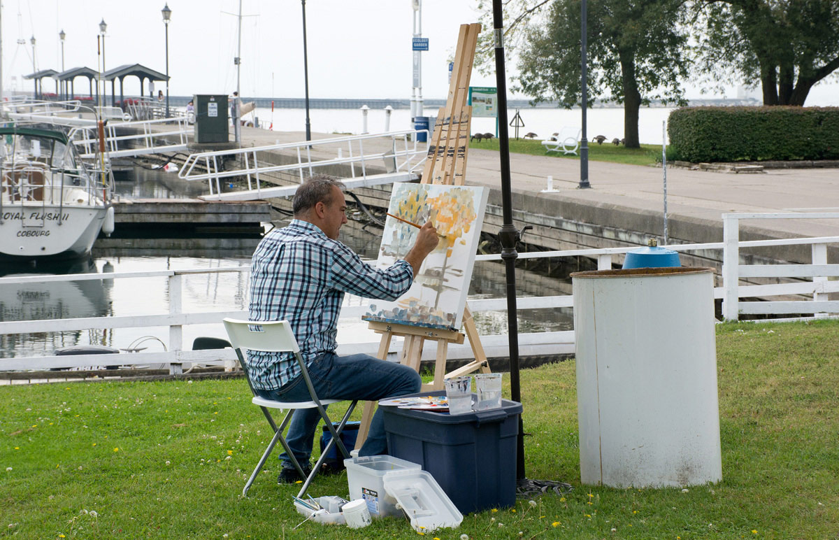 Waterfront painter
