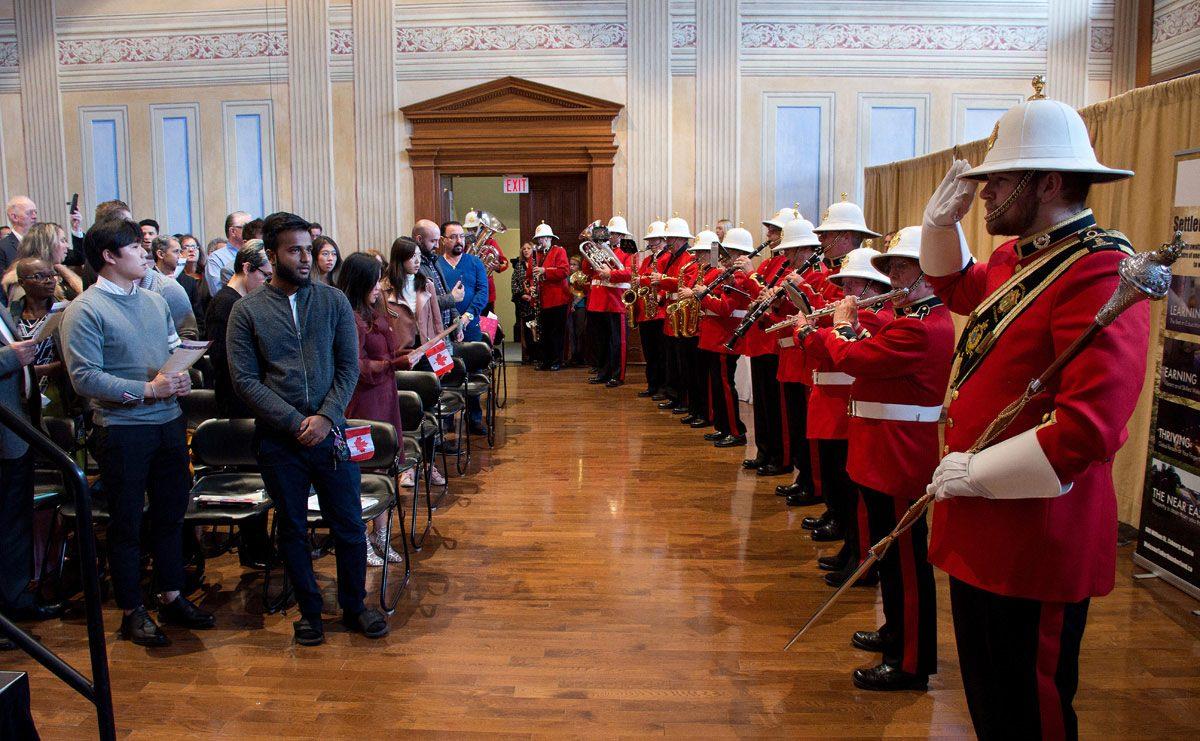Citizenship ceremony - O Canada