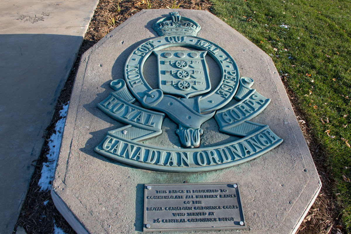LAV III Memorial - Plaque re Ordnance