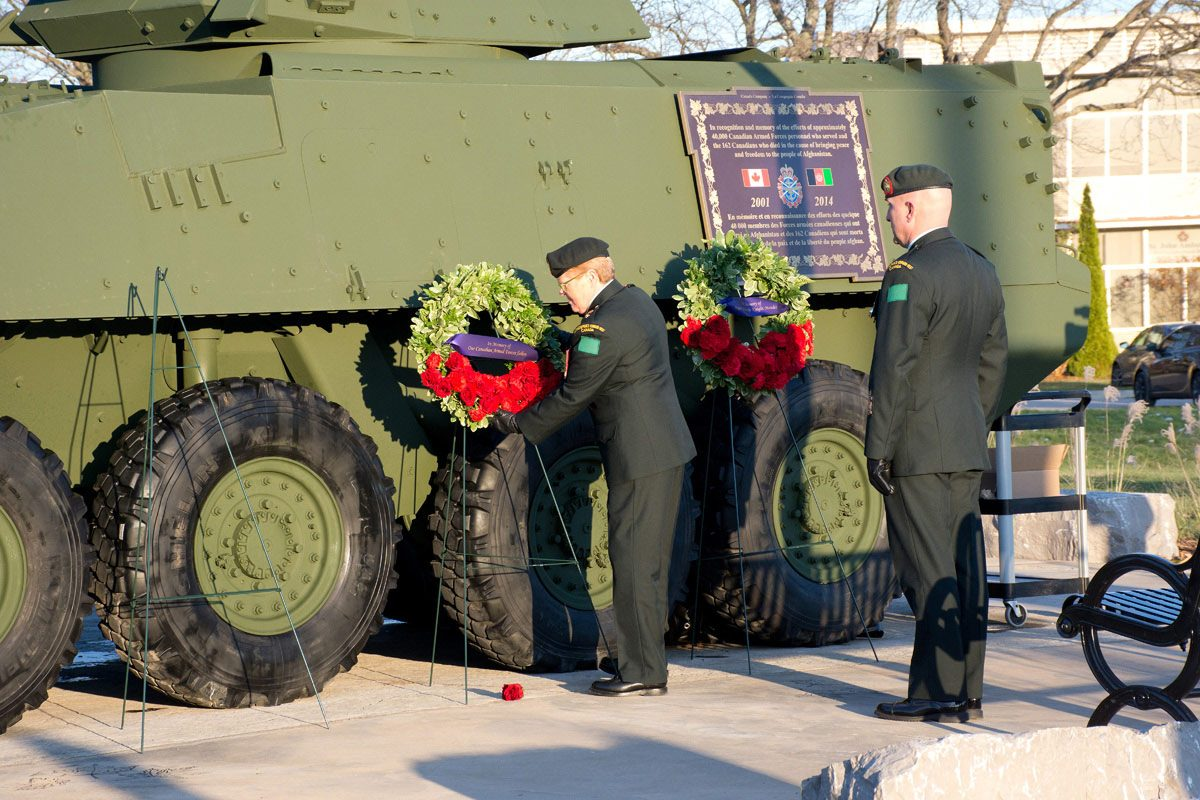 Laying Wreaths