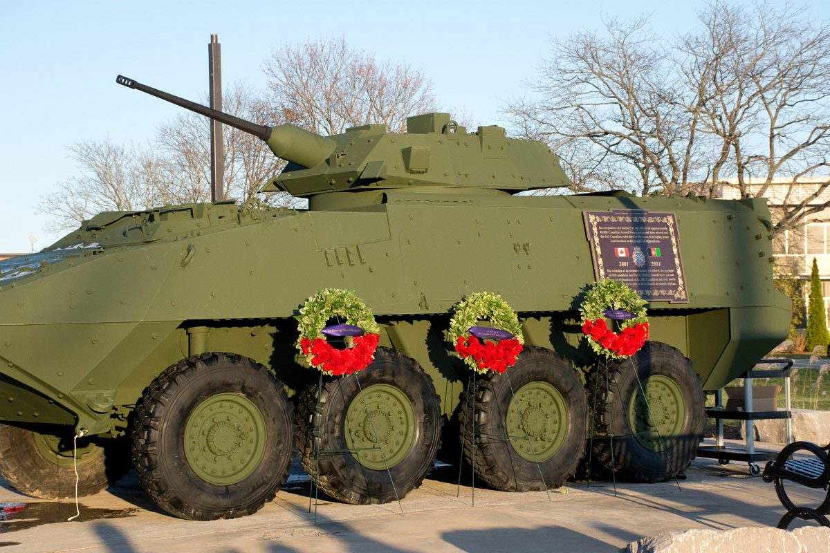 LAV-III with three wreaths