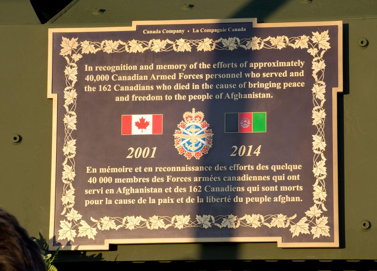 LAV III Memorial- Plaque on side of LAV