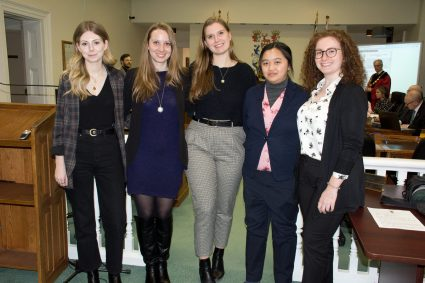 l-r: Enya Barbeau, Michelle Wright, Natalie Heaton, Karen Cheung, Emma Myers