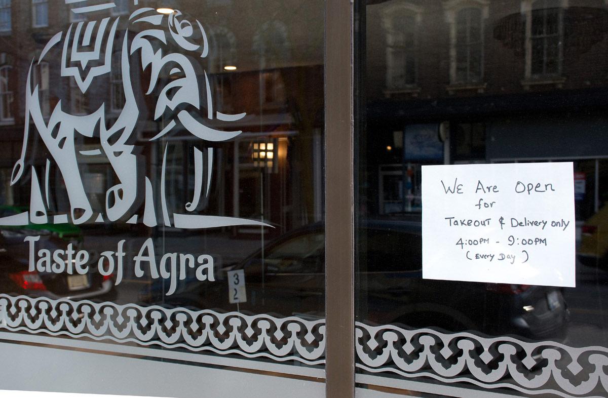 Typical notice in Restaurant windows
