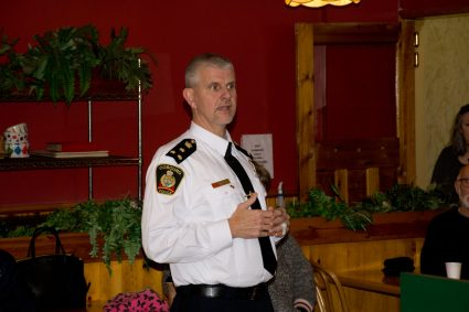 Police Chief Paul VandeGraaf at Dutch Oven