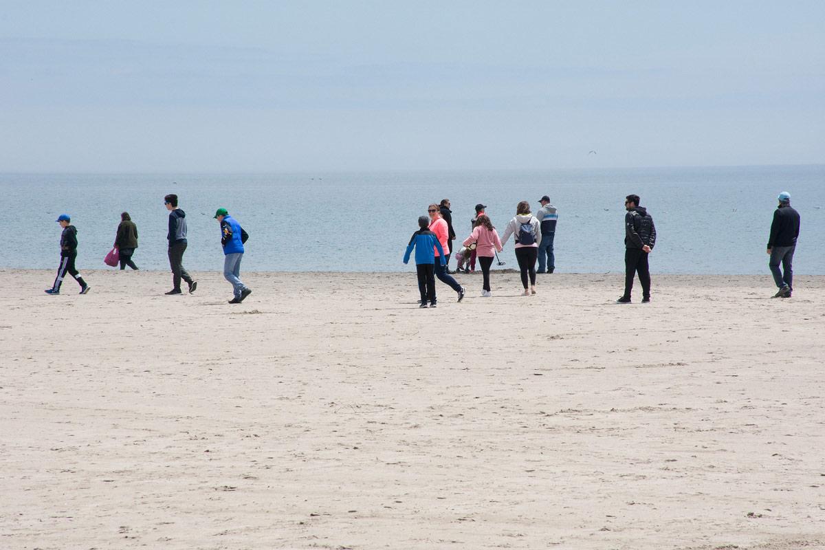 Group walking through