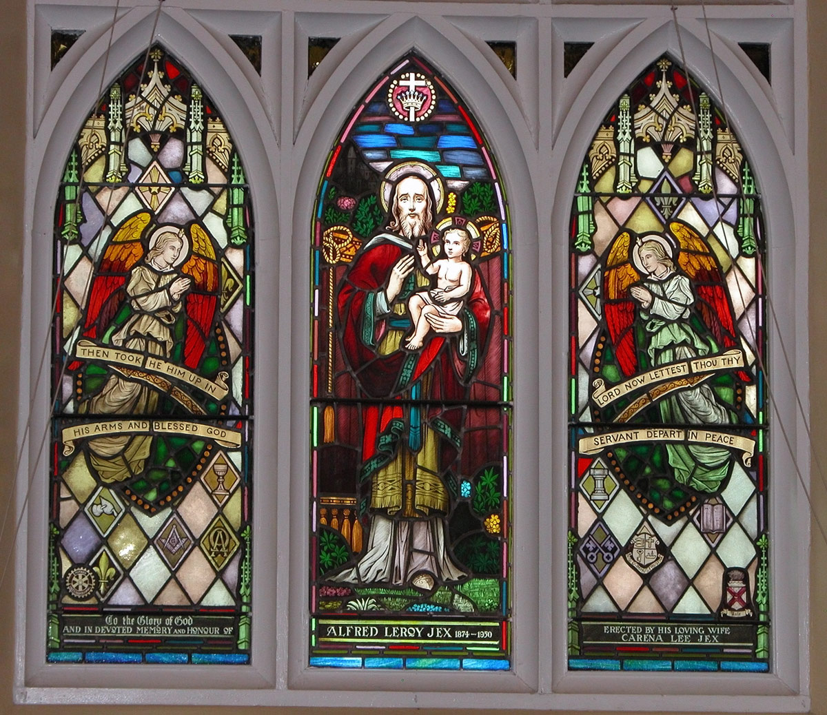 St Peters - one of several magnificent stained glass windows