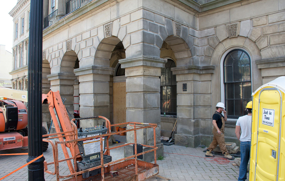 Victoria Hall Renovations on Entrance